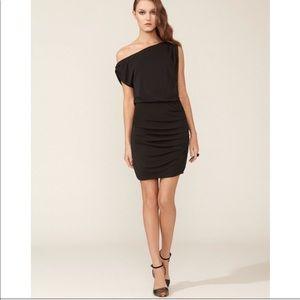 Halston Heritage Off Shoulder Drape Dress